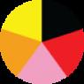 Crna, Crvena, Pink, Oranž, Žuta