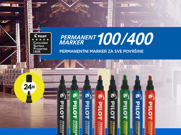 Pilot : Permanent Marker 100, Permanent Marker 400