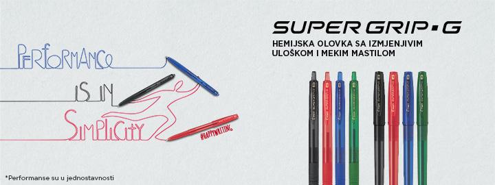 Super Grip G Hemiska olovka Pilot