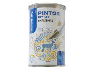 Pilot Pintor - Set DIY Christmas - Različite boje - Tanki vrh